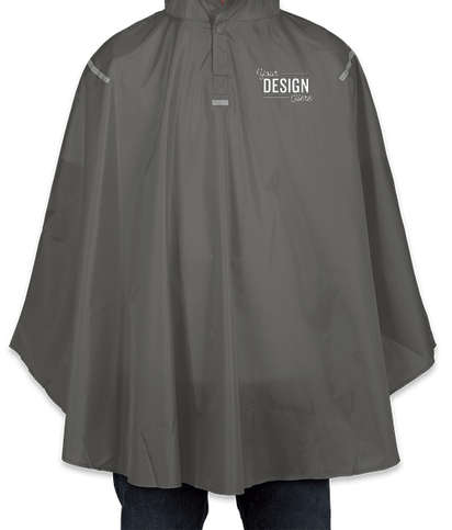 Team 365 Packable Reflective Poncho - Sport Graphite