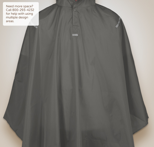 Team 365 Packable Reflective Poncho - Selected Color