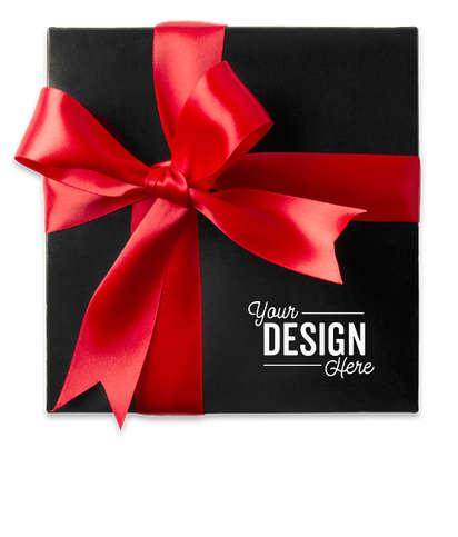Assorted Mini Pretzels Gift Box - Black / Red Bow