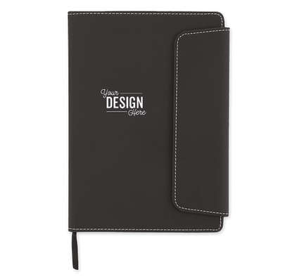 Smooth Matte Magnetic Close Notebook - Black