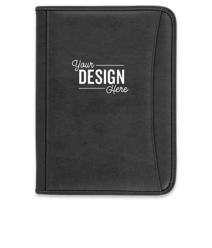 DuraHyde Zippered Padfolio - Black
