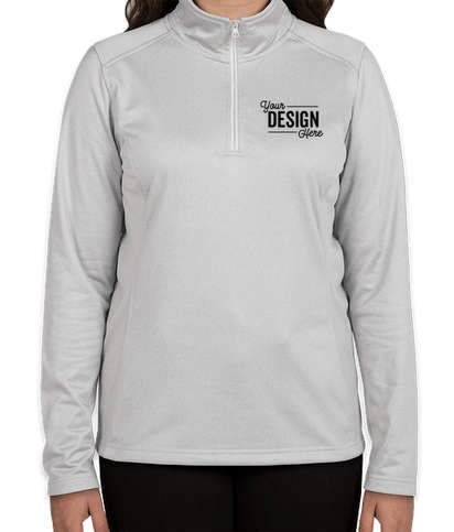 The North Face Women's Tech Quarter Zip Fleece Pullover - Light Grey Heather