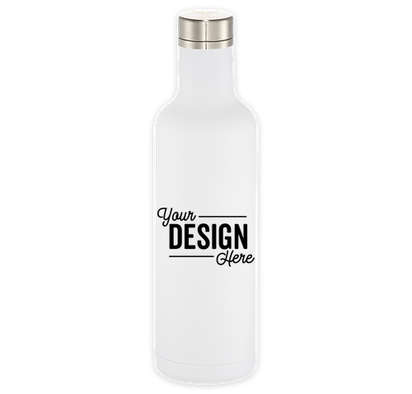 25 oz. Copper Vacuum Insulated Water Bottle - White