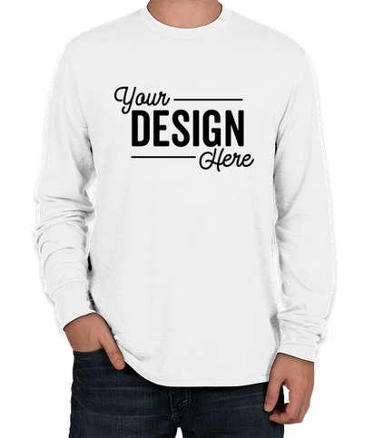District Tri-Blend Long Sleeve T-shirt - White