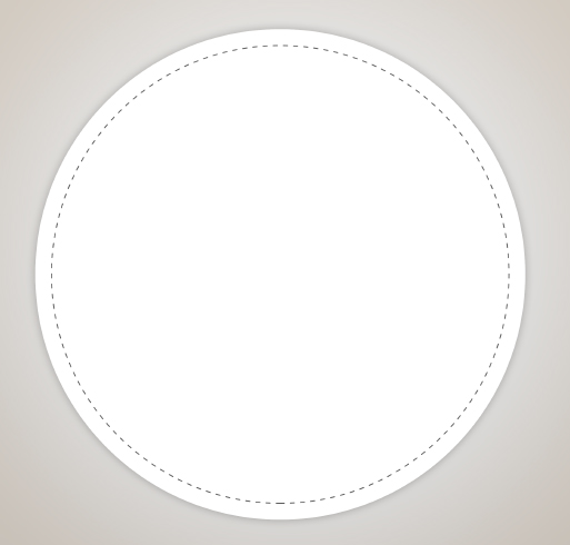 Full Color 4 in. Circle Vinyl Decal - Selected Color
