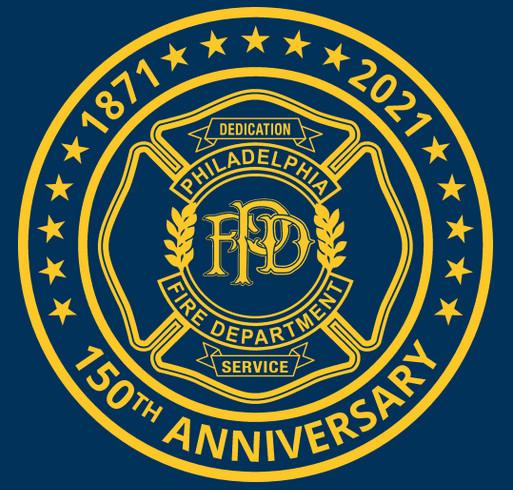 Philadelphia Fire Department 150th Anniversary Magnet shirt design - zoomed