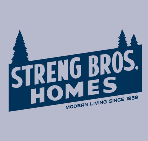 Streng Bros. Homes Vintage Logo T-Shirt – 2019 Sacramento Mid-Century Modern Home Tour shirt design - zoomed