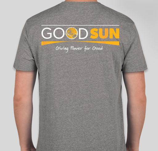 Good Sun limited edition T-shirts Fundraiser - unisex shirt design - back