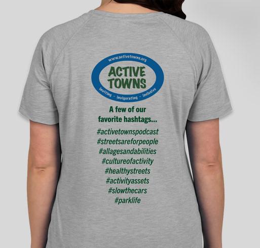 First Ever Active Towns T-Shirt Fundraiser! Fundraiser - unisex shirt design - back