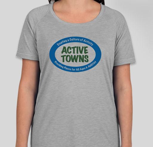 First Ever Active Towns T-Shirt Fundraiser! Fundraiser - unisex shirt design - front