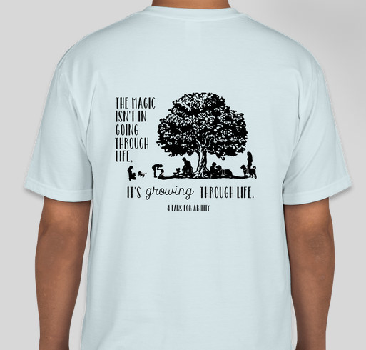 4 Paws Magic in Growing Through Life Fundraiser - unisex shirt design - back