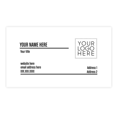"""2"""" x 3.5"""" Horizontal Business Cards - 14 pt. Cardstock - White Glossy"""