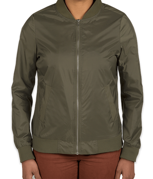 Charles River Women's Lightweight Flight Jacket - Olive