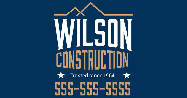 wilson construction yard sign