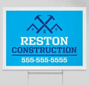 reston construction yard sign