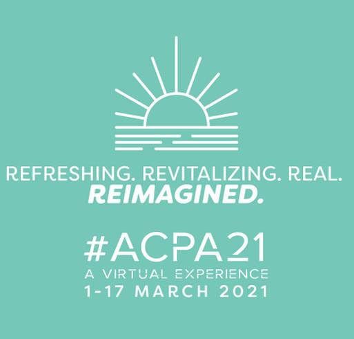 ACPA21 Reimagined Tumbler shirt design - zoomed