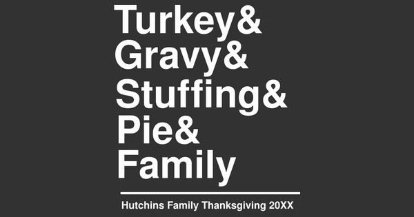 thanksgiving helvetica