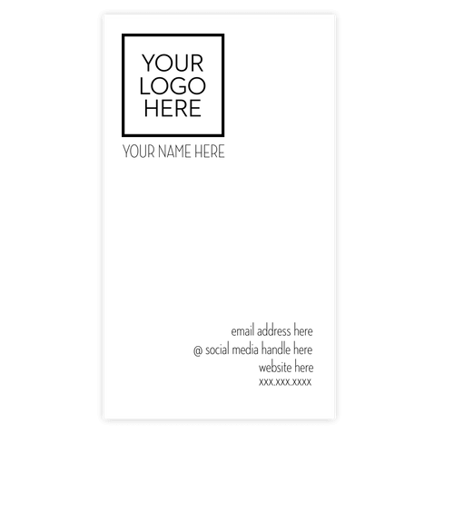 "3.5"" x 2"" Vertical Business Cards  - 14 pt. Cardstock - White Glossy"