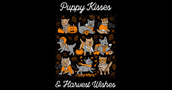 Puppy kisses and harvest wishes