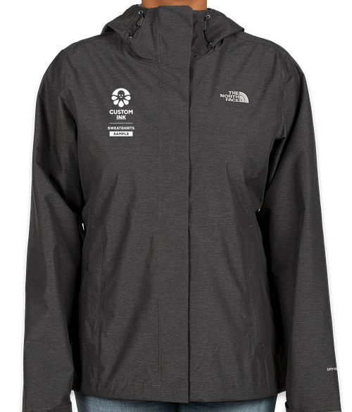 The North Face Women's Waterproof Windbreaker Jacket - Dark Grey Heather