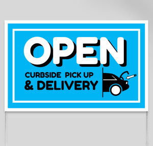 curbside delivery yard sign