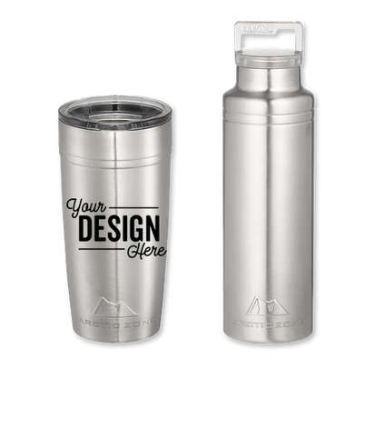 20 oz. Arctic Zone Copper Vacuum Insulated Drinkware Gift Set - Silver