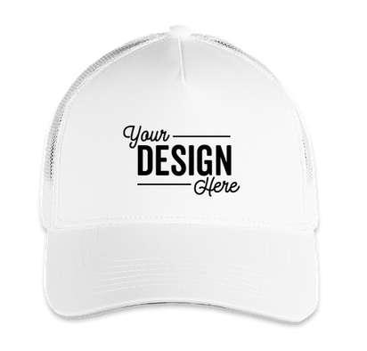 Sport-Tek Competitor Mesh Back Hat - White/ White