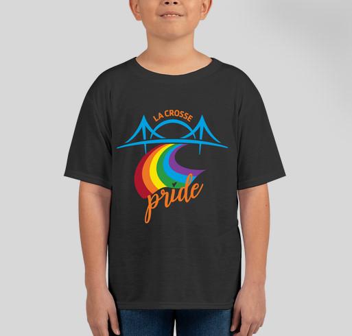 La Crosse Pride Apparel Fundraiser - unisex shirt design - front