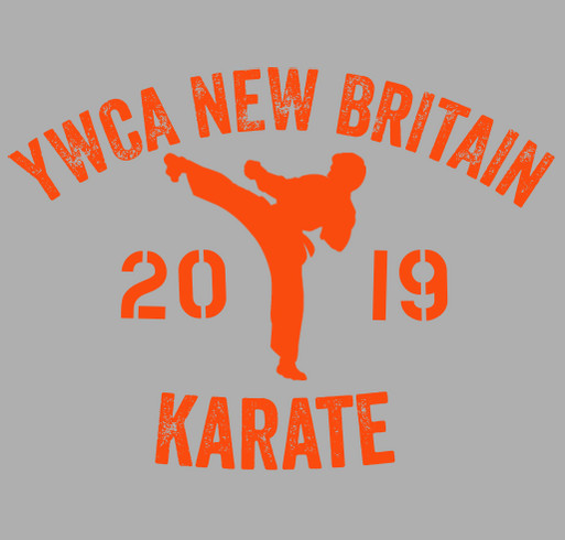 YWCA New Britain Karate Fundraiser shirt design - zoomed