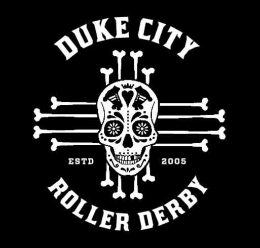 Duke City Roller Derby Munecas Muertas 2018 Fundraiser shirt design - zoomed