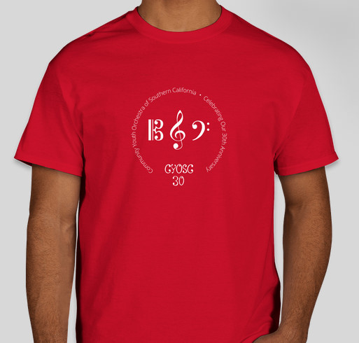 Community Youth Orchestra of Southern California Fundraiser - unisex shirt design - front