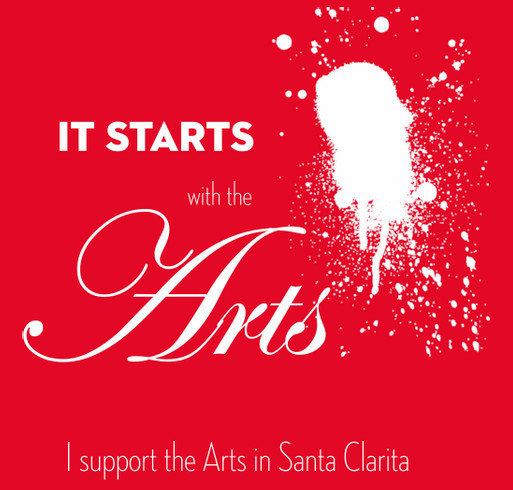 I support the Arts in Santa Clarita shirt design - zoomed