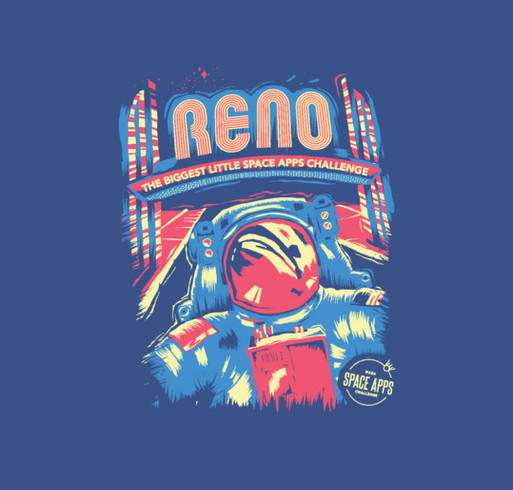 Space Apps Reno 2017 shirt design - zoomed