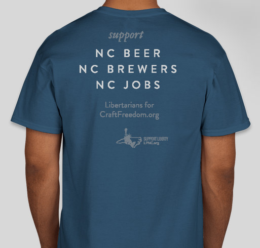 North Carolina for Free Beer Fundraiser - unisex shirt design - back