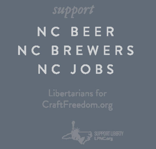 North Carolina for Free Beer shirt design - zoomed
