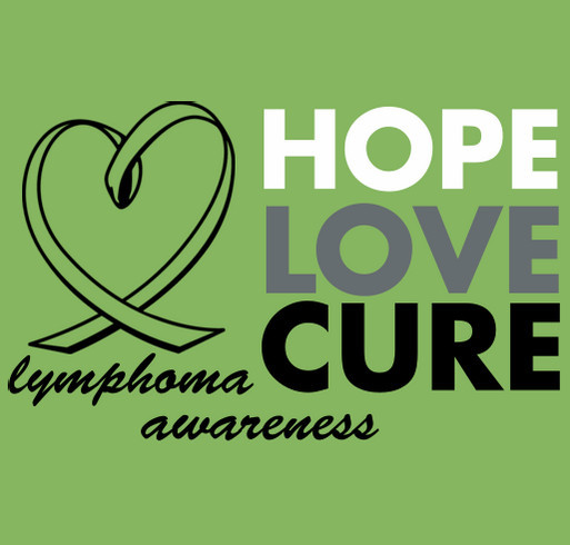 Lymphoma Awareness shirt design - zoomed