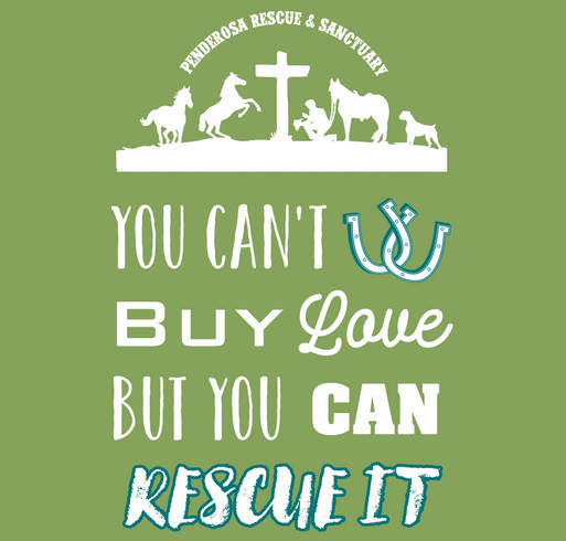Penderosa Rescue & Sanctuary shirt design - zoomed