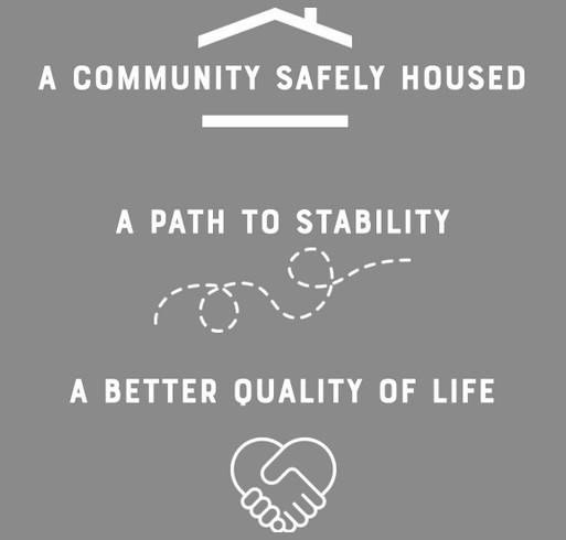 Quixote Communities' Digital Happy Hour for Housing shirt design - zoomed