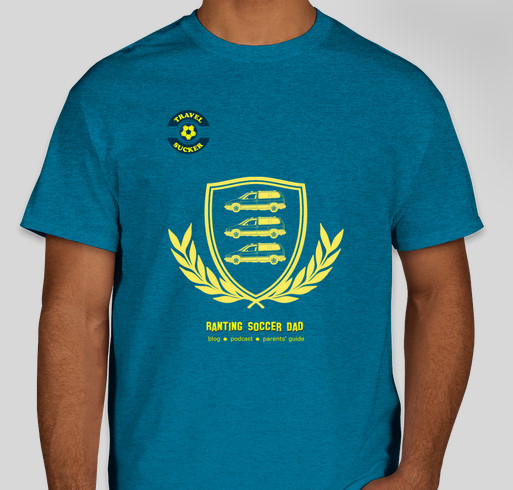 Ranting Soccer Dad - THREE MINIVANS Fundraiser - unisex shirt design - front
