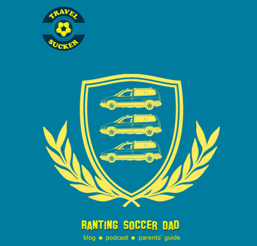 Ranting Soccer Dad - THREE MINIVANS shirt design - zoomed
