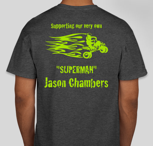 Help show your support for jason chambers our very own for Make your own superman shirt