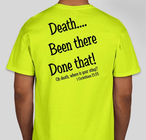 #TeamZack Fundraiser - unisex shirt design - back