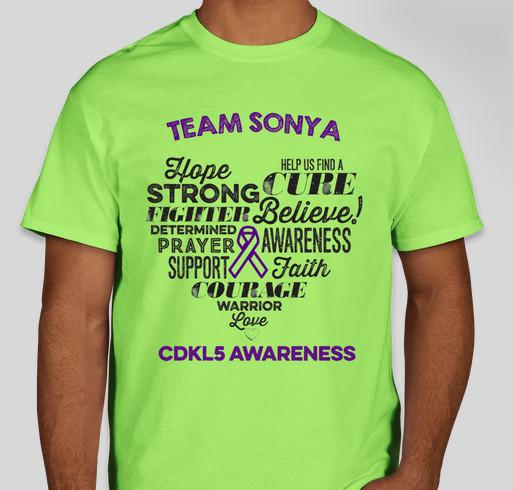 Team Sonya's Story Fundraiser - unisex shirt design - front