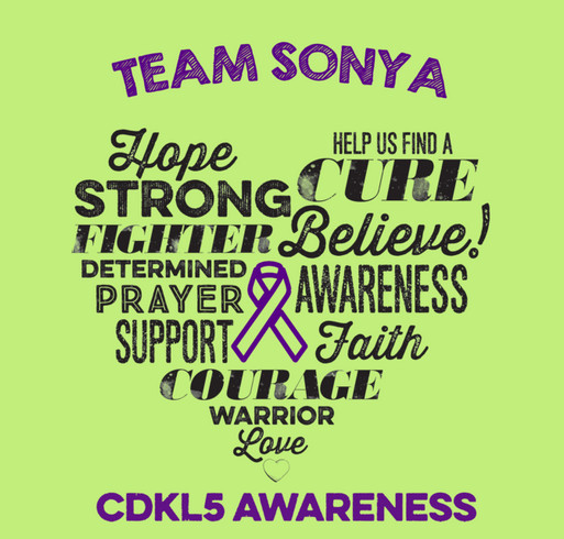 Team Sonya's Story shirt design - zoomed