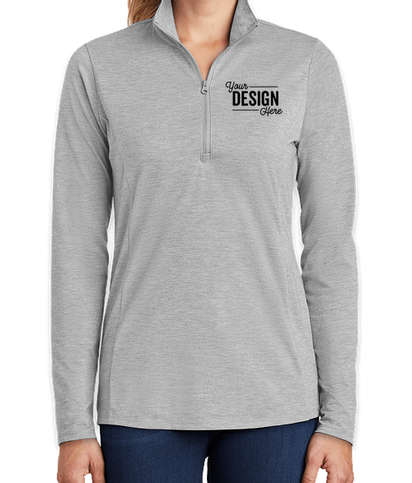 Custom Sport Tek Women S Tri Blend Quarter Zip Performance Shirt Design Women S Activewears Online At Customink Com I love the way this shirt fits not tight but loose and drapes very well its a perfect fit. usd