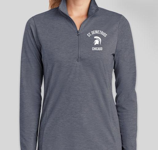 Sport-Tek Women's Tri-Blend Quarter Zip Performance Shirt