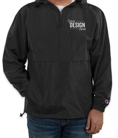 Champion Packable Half Zip Windbreaker Jacket - Black