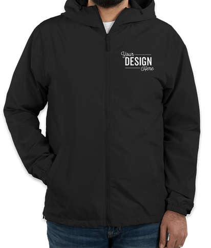 Independent Trading Solid Lightweight Full Zip Jacket - Black
