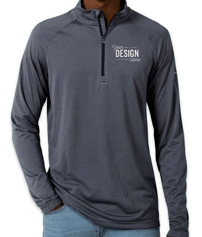 Under Armour Tech Stripe Quarter Zip Performance Shirt - Midnight Navy