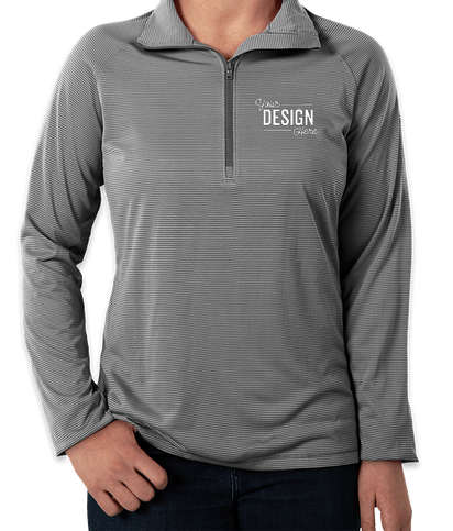Under Armour Women's Tech Stripe Quarter Zip Performance Shirt - Graphite